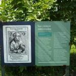 Табела от градината с лечебни растения