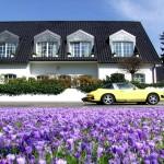 Цветя пред къща в Дюселдорф