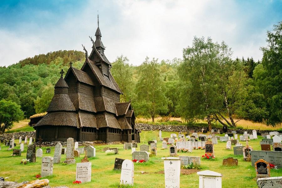 Дървената църква в Бургунд, Норвегия