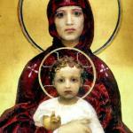 Богородина с младенеца от Михаил Врубел (фрагмент)