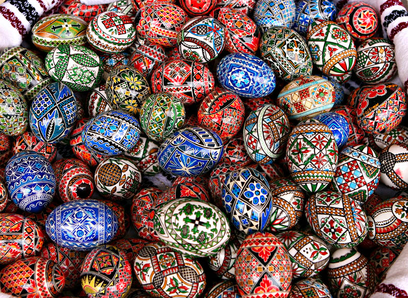 Писани яйца, Румъния