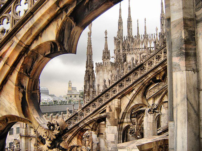 Милано, поглед от катедралата