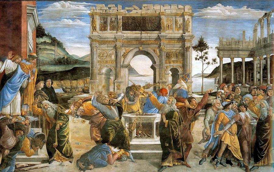 Ботичели, Наказанието на Кора или Възмущение от законите