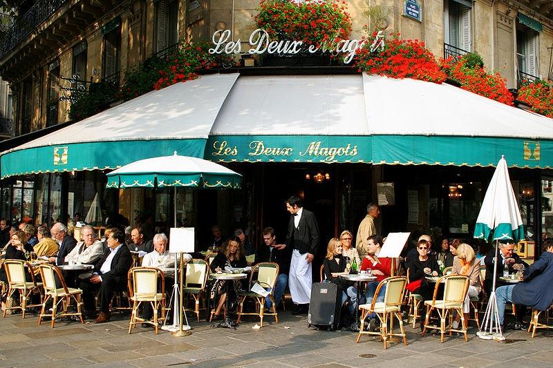 Париж, литературно кафене