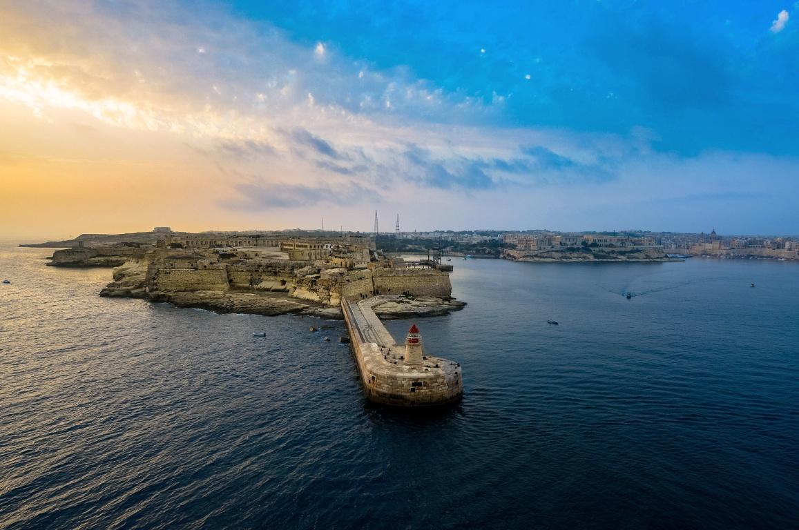 Пристанището на Малта