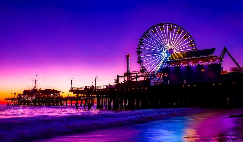 Плажът Санта Моника в Лос Анджелис