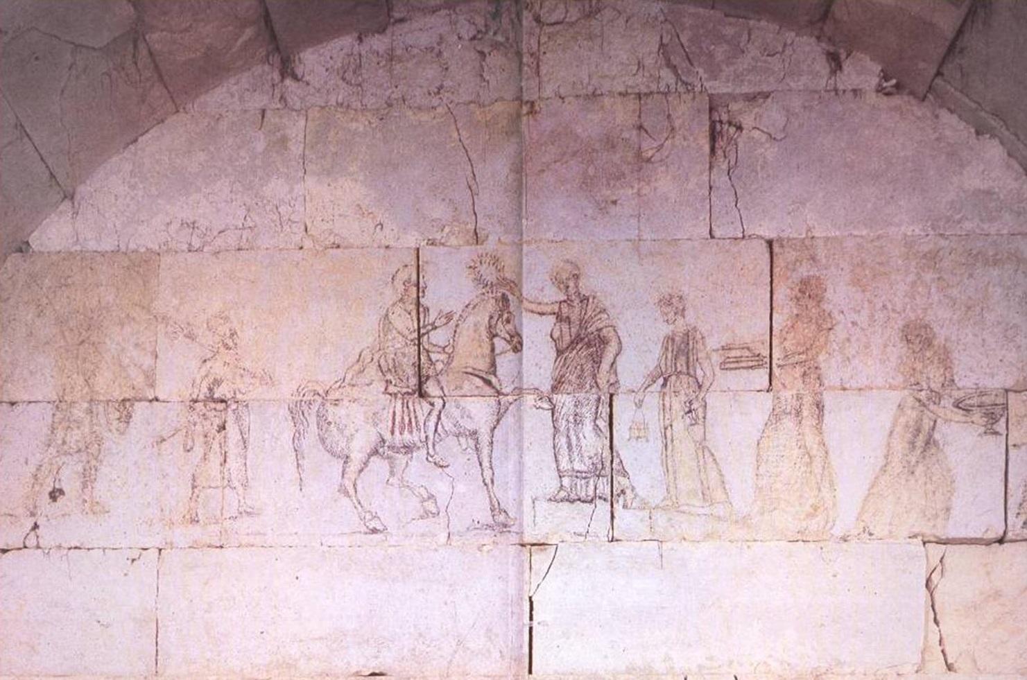 Живописна сцена от гробницата в Свещари