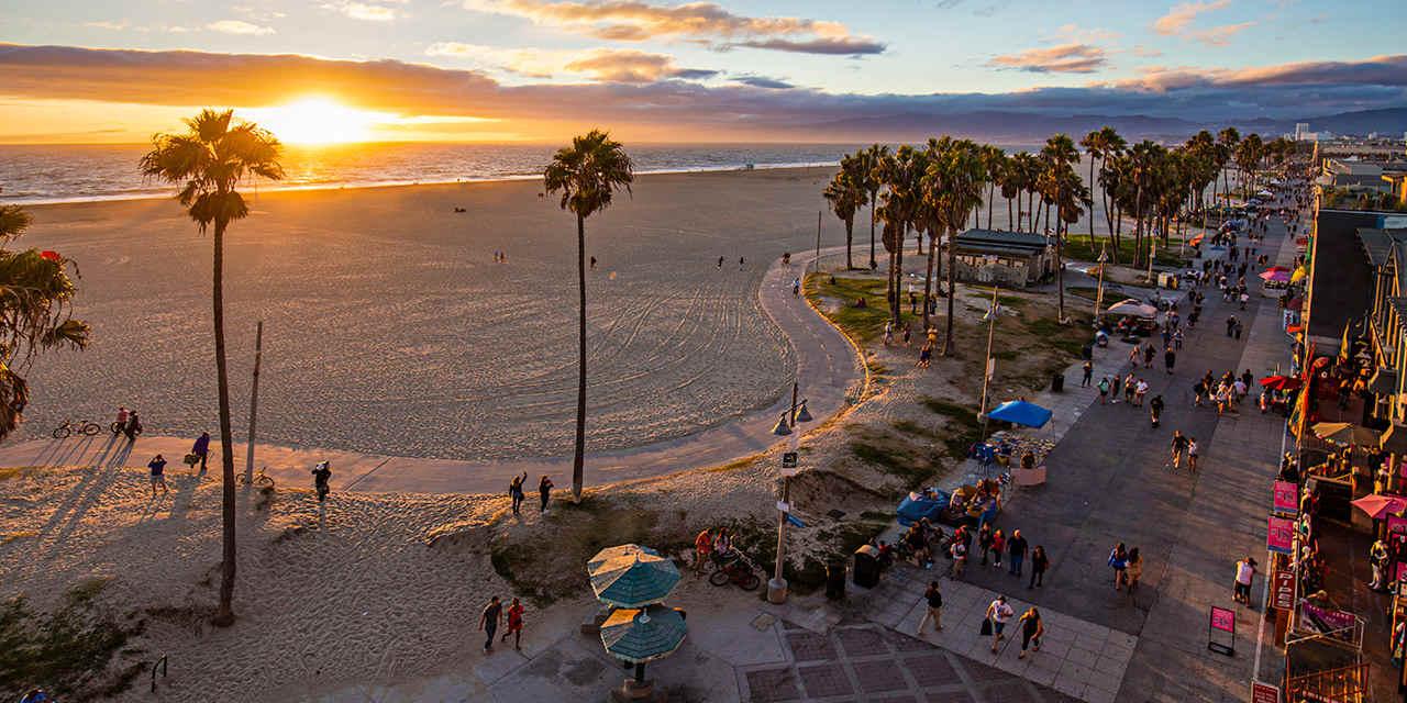 Плажът Венеция в Лос Анджелис