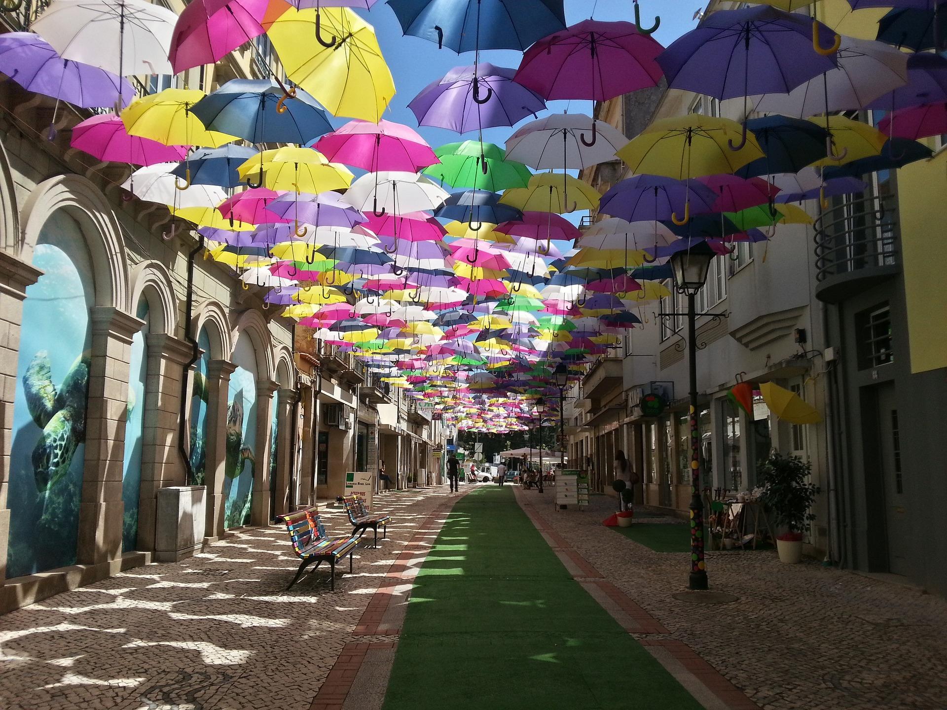 """Umbrella Sky"", Агуеда, Португалия"